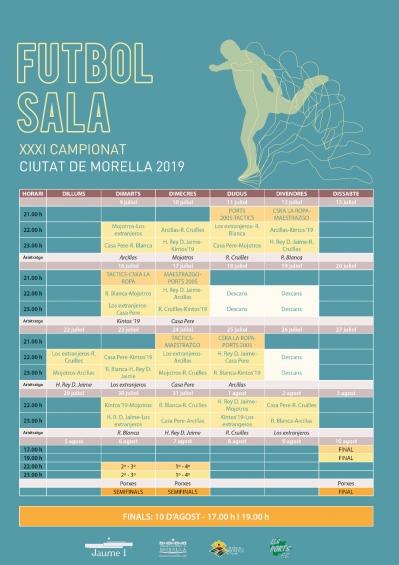XXXI CAMPIONAT DE FUTBOL SALA CIUDAD DE MORELLA.
