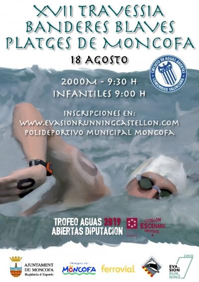 17a edició de la travessia nadant Banderes Blaves Platges de Moncofa