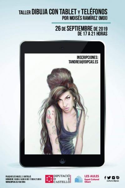 Taller dibuixa amb tablet i telèfons, Castelló.