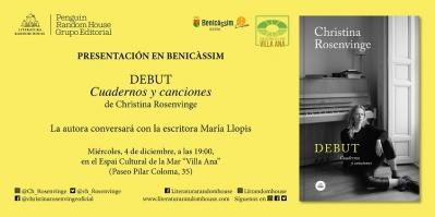 Presentación autora Christina Rosenvinge - Benicàssim