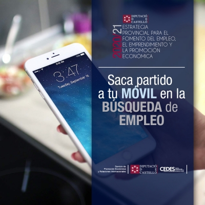 Taller ON-LINE - Saca partido a tu móvil en la búsqueda de empleo
