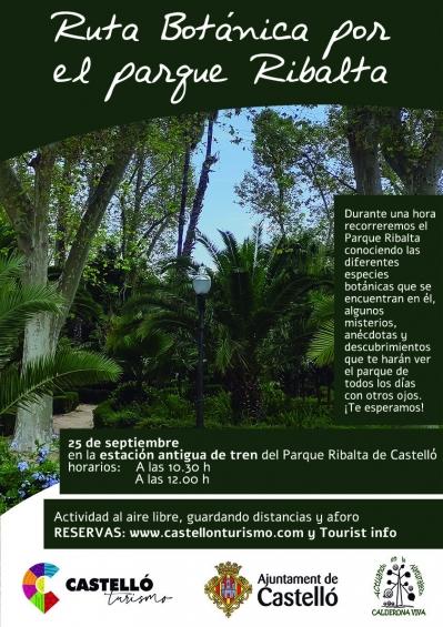 Ruta botànica pel parc Ribalta