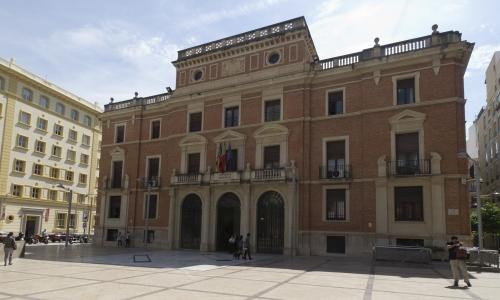 Vista del edificio del Palacio Provincial
