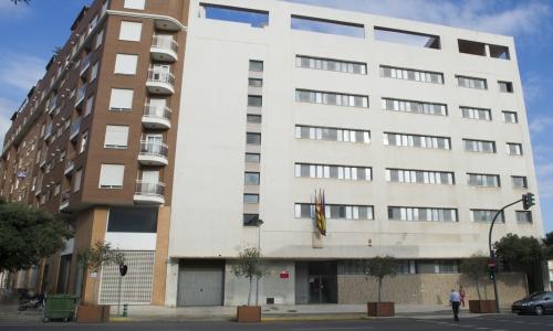 Vista del edificio de las nuevas dependencias de la Diputación de Castellón
