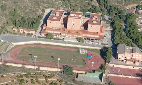 Vista aérea del complejo penyeta-roja