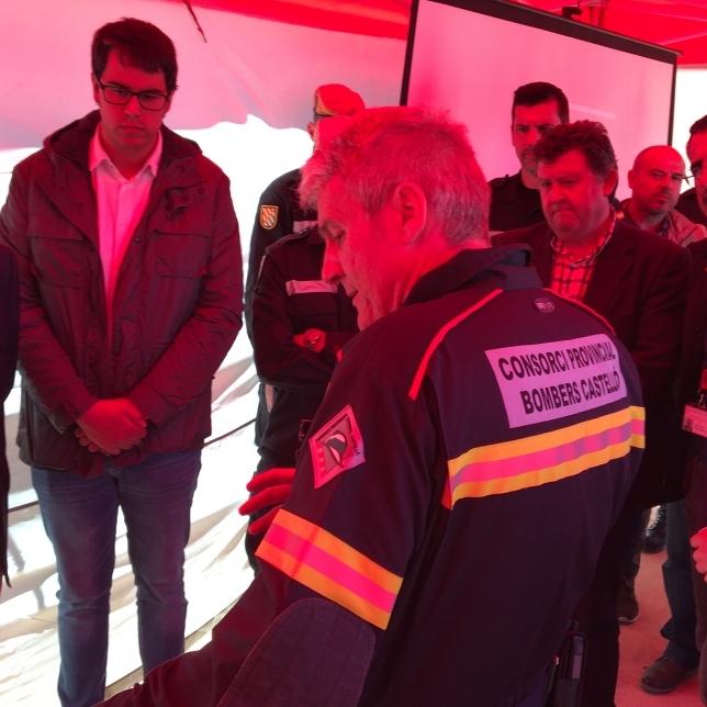 Coordinando el mayor simulacro contra incendios