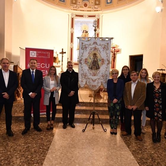 La Diputació restaura el guió processional de la Verge dels Desemparats de Vall d´Uixó