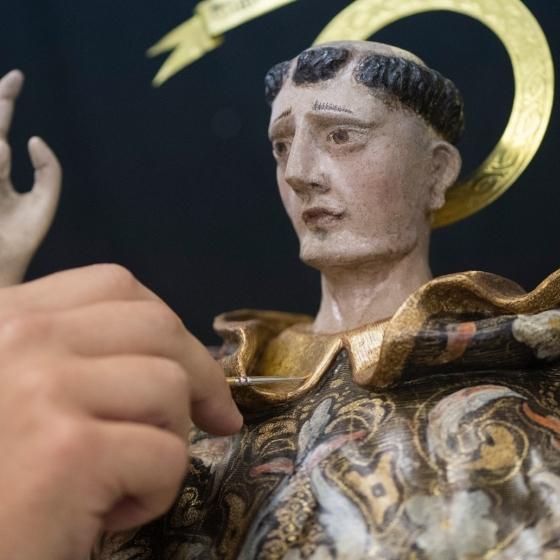 La Diputació presentarà demà la restauració de la talla de Sant Vicent Ferrer