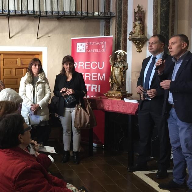 La Diputació entrega a Onda la restauració de sant Vicent Ferrer