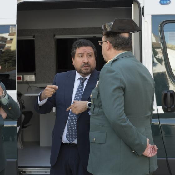 La Diputación y la Guardia Civil ponen en servicio la Intervención Móvil de Armas