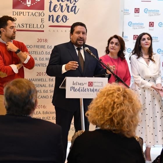 La Diputación internacionaliza el impulso de 'Letras del Mediterráneo' con Espido Freire