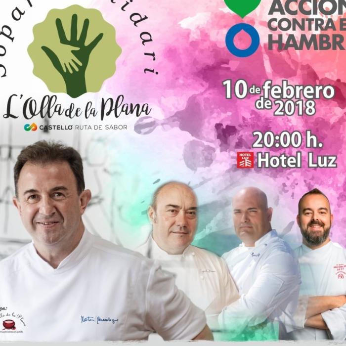 Castelló Ruta de Sabor será protagonista en la cena solidaria de L´Olla de la Plana