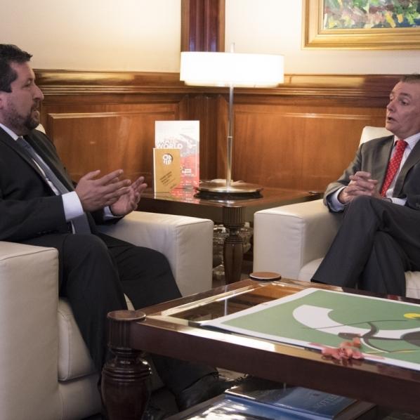 Moliner se reúne con el presidente de la CEV