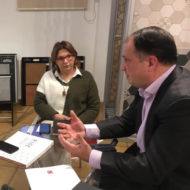 La Diputación coordina con el sector cerámico provincial su estrategia