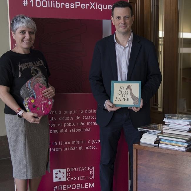 La Fundació Caixa Castelló se suma a la recollida de llibres per a Castell de Cabres