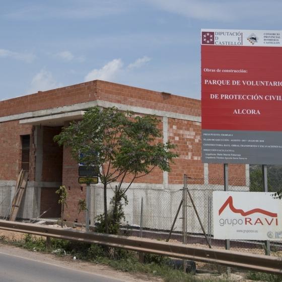 La Diputación avanza las obras del Parque de Protección Civil de Alcora