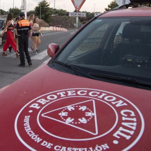 Diputación enviará 45 efectivos diarios de Protección Civil al Rototom