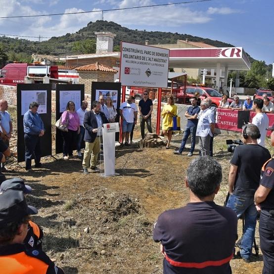 Moliner anuncia un nuevo parque de Bomberos y Protección Civil en Benassal