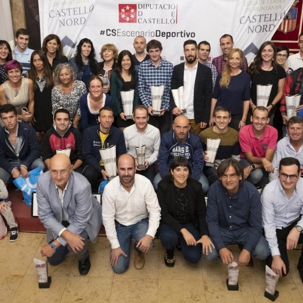 Un repleto Salón de Recepciones acoge la clasura de la X Lliga de Curses per Muntanya Castelló Nord