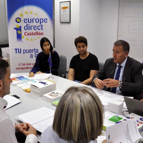 Diputación acoge una simulación del funcionamiento del Parlamento Europeo