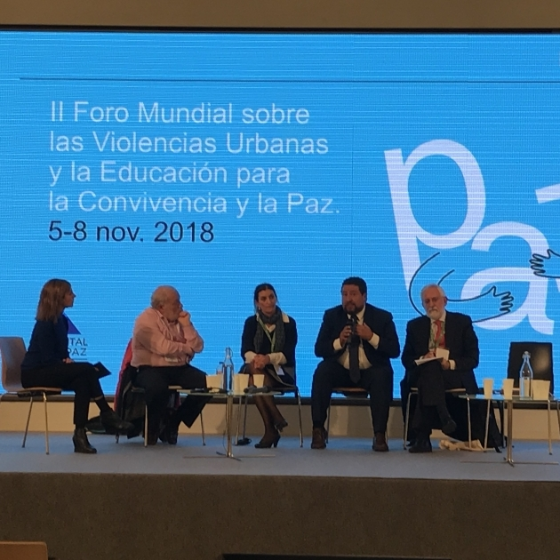 Moliner participa en l'II Fòrum Mundial sobre Violències Urbanes i Educació per la Pau