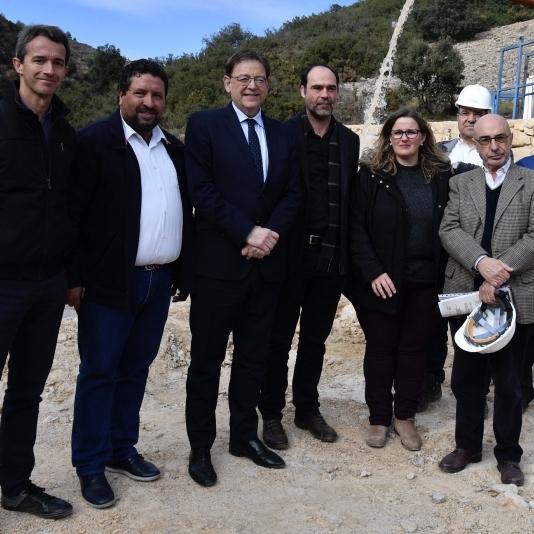 Construcció del pou de Benassal i Vilafranca en el seu compromís per revertir la despoblació