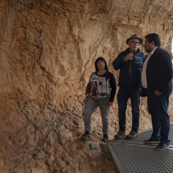 Moliner es reuneix amb el codirector d'Atapuerca per a difondre les pintures de la Valltorta
