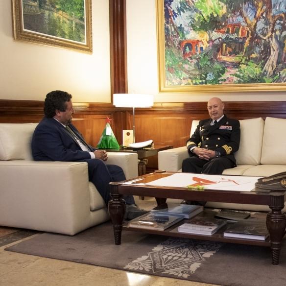 Moliner se reúne con el nuevo Comandante Naval de Valencia y Castellón, Alfredo Cordón Scharfhausen