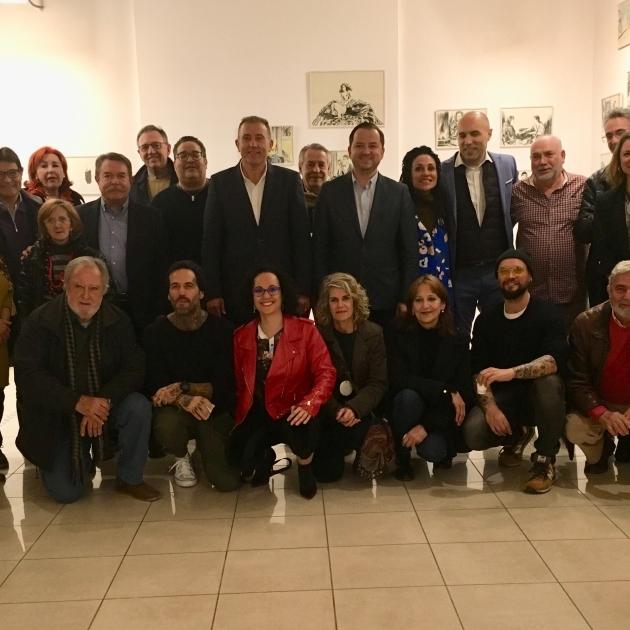 La Diputación acoge la felicitación navideña de los artistas de la provincia