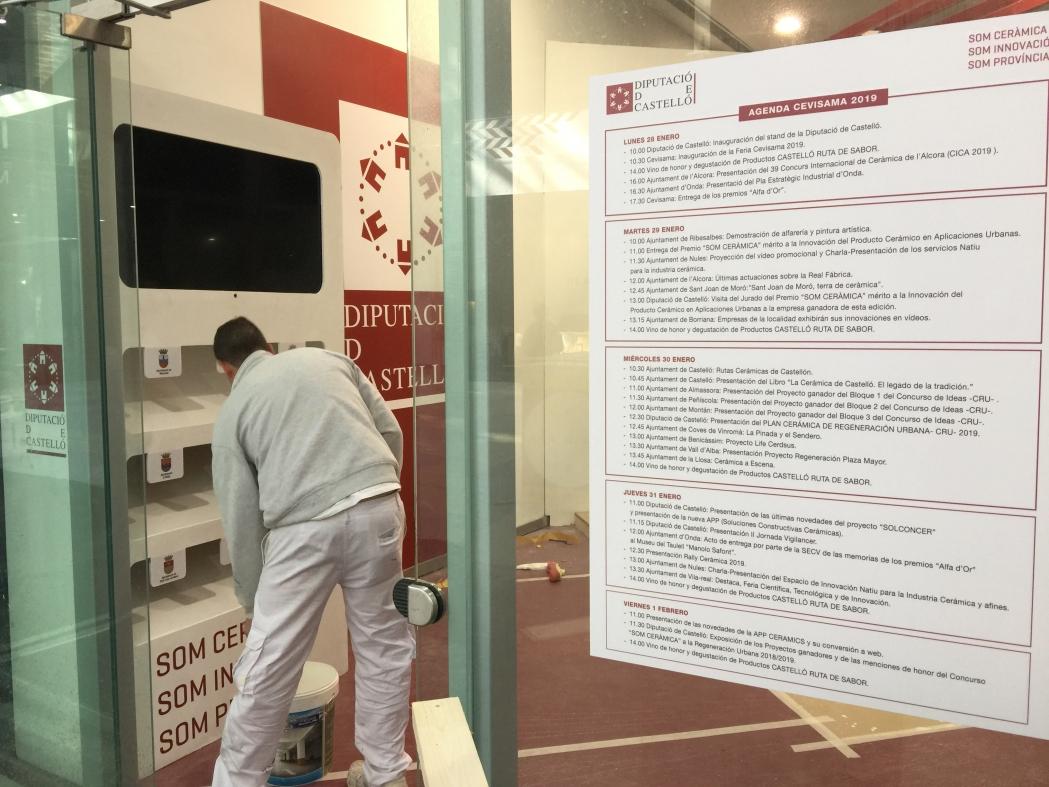 Diputació ultima amb els ajuntaments la seua millor participació a Cevisama
