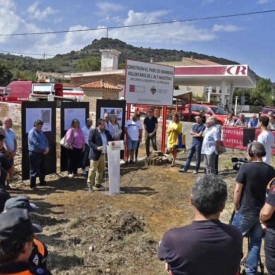 Diputació adjudica les obres del  nou Parc de Bombers  Voluntaris