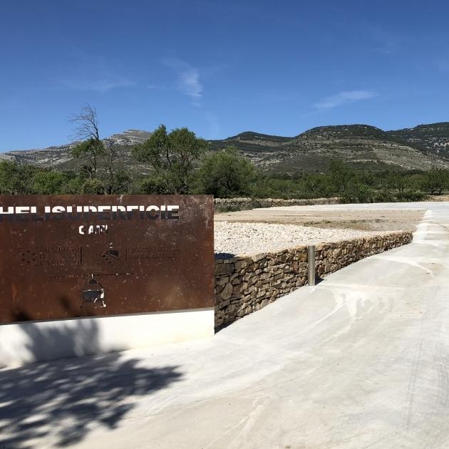 Diputación amplía con la helisuperficie de Catí la red provincial para la evacuación