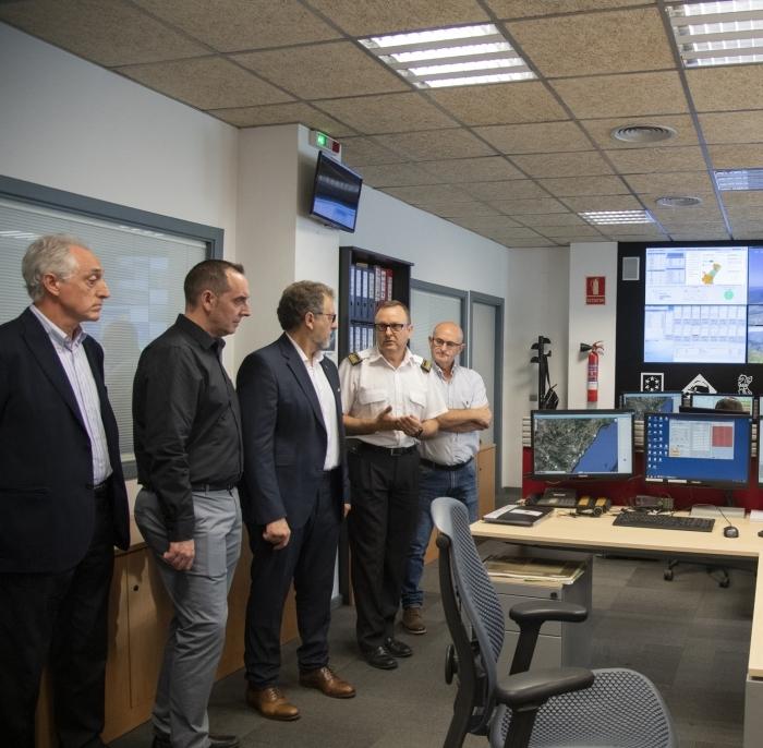 Martí muestra el respaldo total de la nueva Diputación al Consorcio Provincial de Bomberos