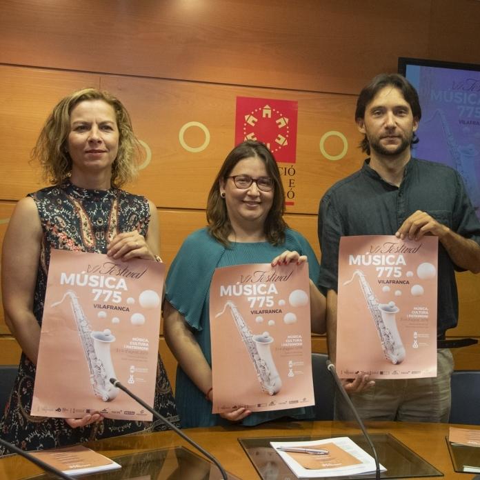Els dies 2, 3 i 4 d'agost se celebrarà el VI Festival Música 775 Vilafranca