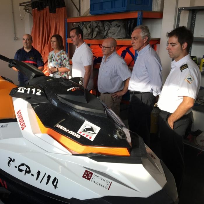 El diputat de Bombers visita les instal·lacions del parc del Baix Maestrat
