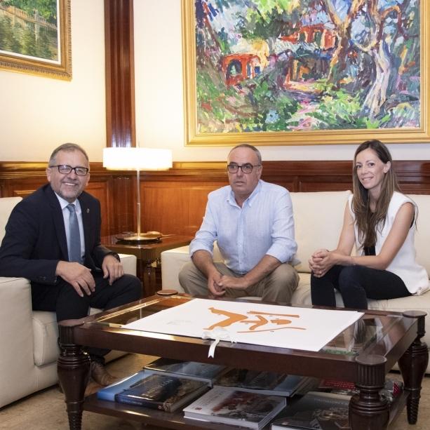 El president de la Diputació rep l'alcalde de la Serra d'en Galceran, Juan Carlos Mateu