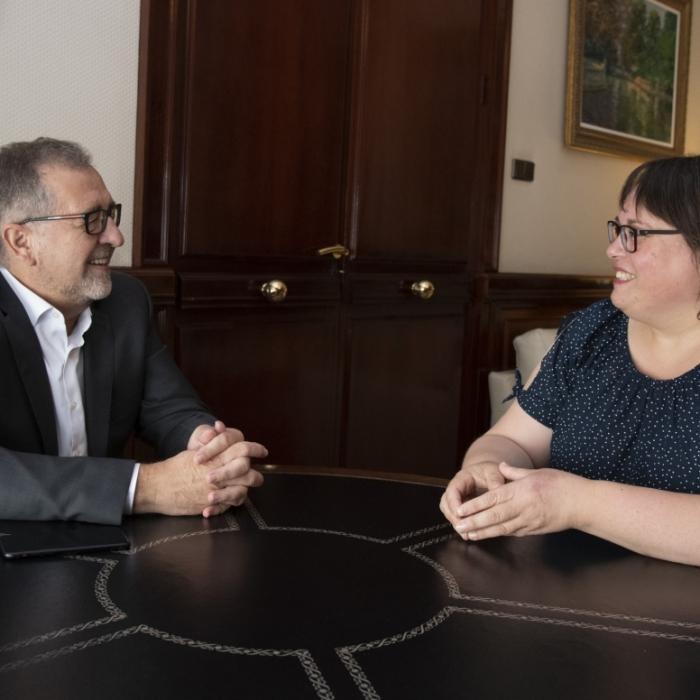 Martí destaca que 'La Vuelta' dará a conocer el patrimonio de Ares del Maestrat en todo el mundo