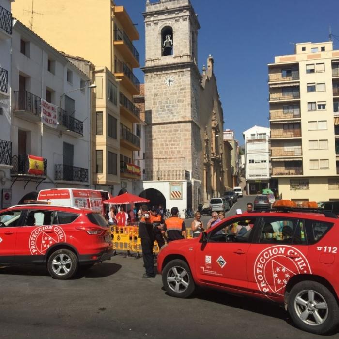 La Diputación moviliza a Protección Civil y Bomberos para dar cobertura al paso de La Vuelta