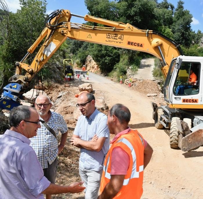 La Diputación amplía la CV-207 entre Puebla de Arenoso y Los Calpes para mejorar la seguridad vial