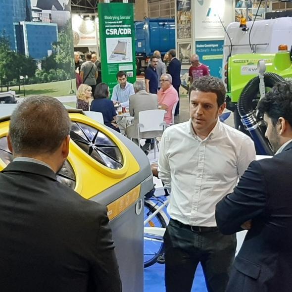 Garcia busca solucions tecnològiques per a la gestió de l'aigua i dels residus a Efiaqua-Ecofira