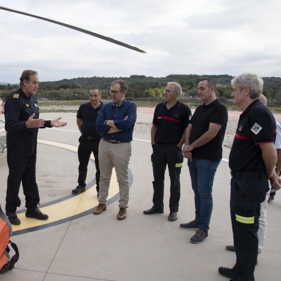 Martí destaca la ràpida resposta dels mitjans aeris del Consorci de Bombers enfront de les alertes