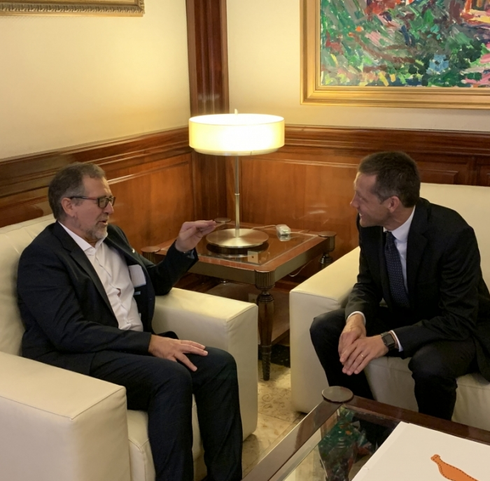 José Martí recibe la visita de José Luis Boix, consejero delegado de XIOB Grup y Civicons