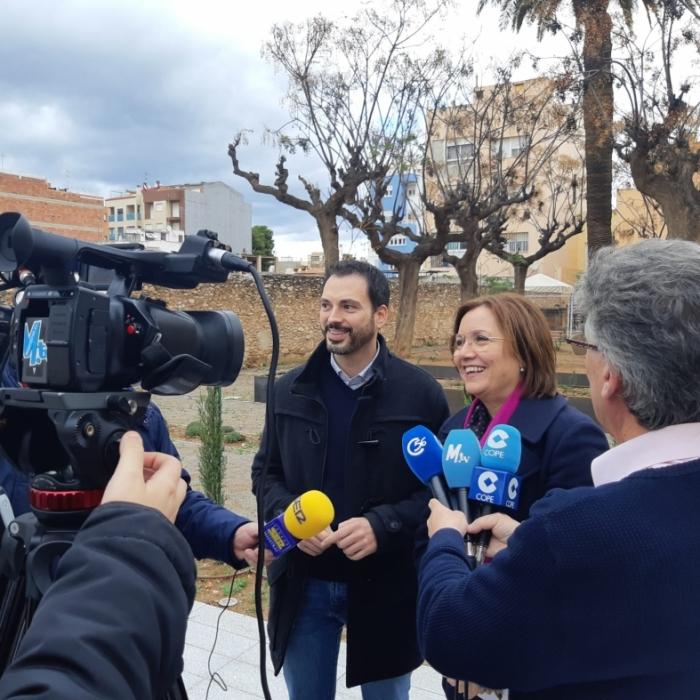 Ximo Huguet visita las obras realizadas en Vinaròs y Benicarló con cargo al Plan 135 de 2019