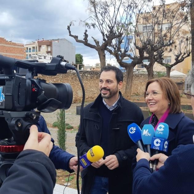 Ximo Huguet visita les obres realitzades a Vinaròs i Benicarló amb càrrec al Pla 135 de 2019