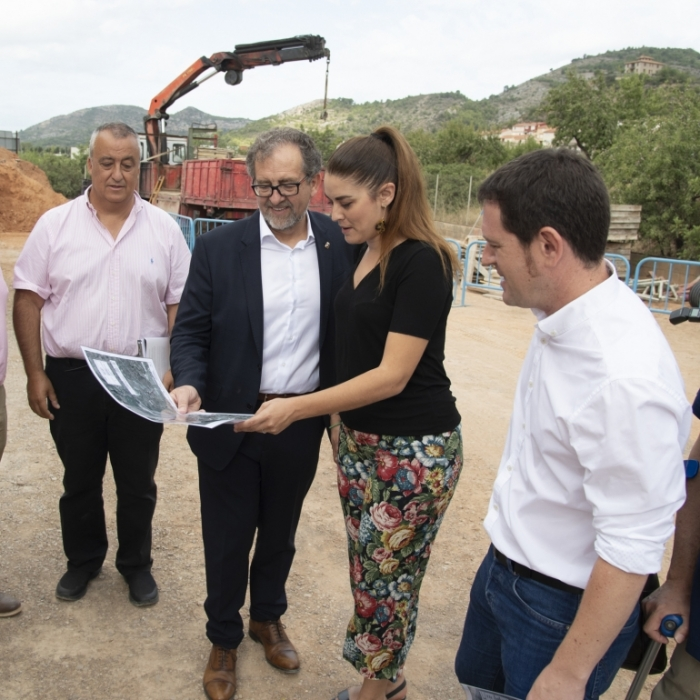 La Diputación concluye las obras del colector de Borriol hasta la depuradora de Castelló para dar una solución definitiva a las aguas residuales