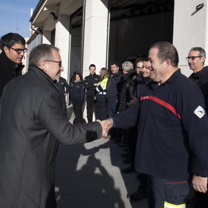 José Martí destaca a Morella la gran capacitat tecnològica del parc de bombers voluntaris