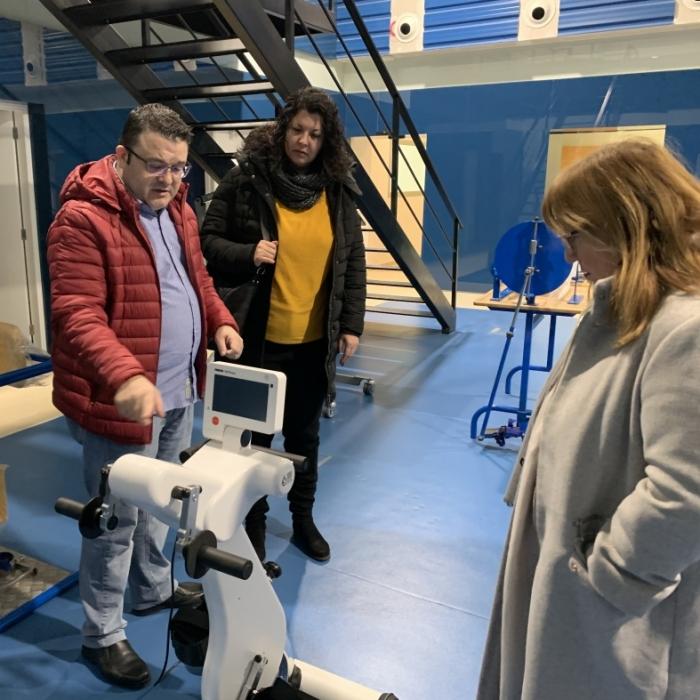 Patricia Puerta visita les noves instal·lacions de Cocemfe, subvencionades amb 100.000 euros per la Diputació de Castelló