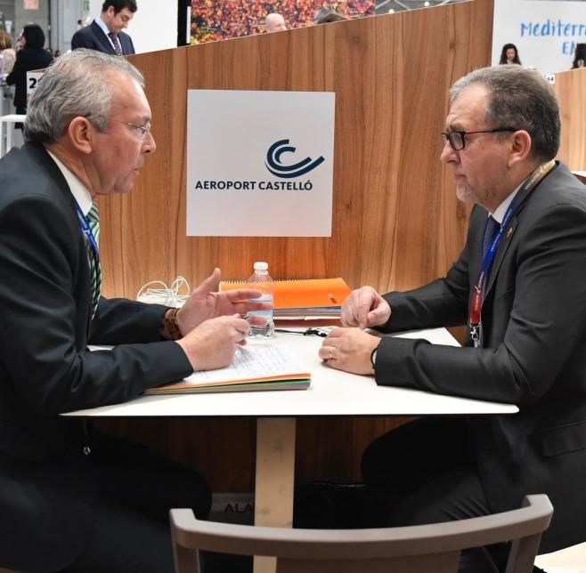 La Diputación y Aerocas reforzarán la promoción de las nuevas rutas aéreas desde Castellón