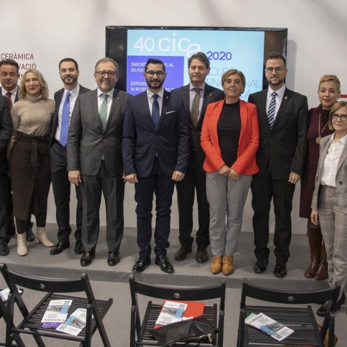La Diputación reafirma su apoyo al Concurso Internacional de Cerámica de l'Alcora en la presentación de su 40 edición