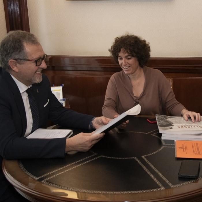 La alcaldesa de Almenara solicita la colaboración de la Diputación para mejorar la seguridad vial en la carretera de la Playa